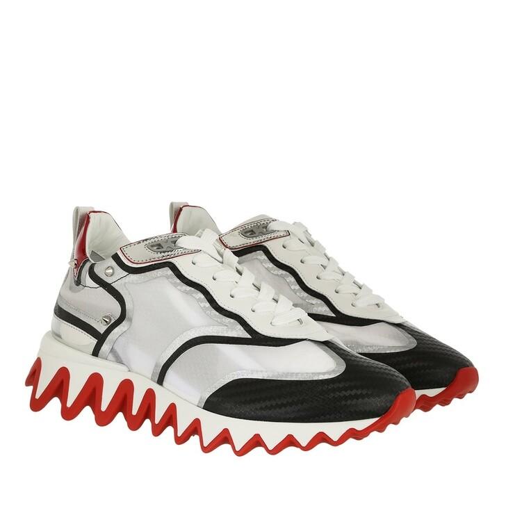 shoes, Christian Louboutin, Loubishark Donna Sneakers Black/Silver