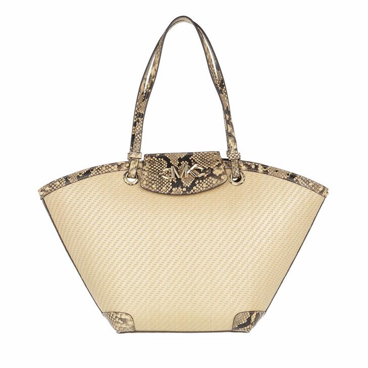 Handtasche, MICHAEL Michael Kors, Izzy Medium Fan Tote Natural