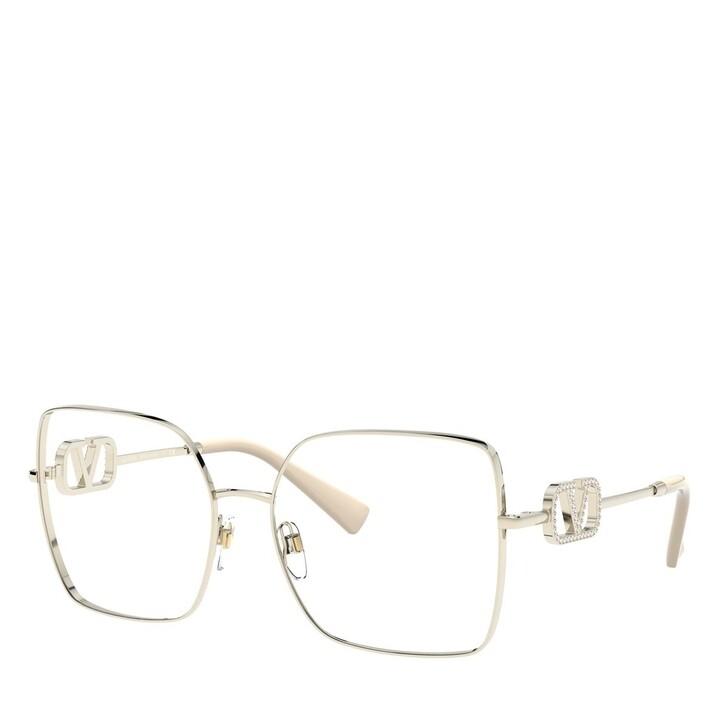 Brillen mit Gläsern, Valentino, Blue Blocker Metall Women Sonne Pale Gold