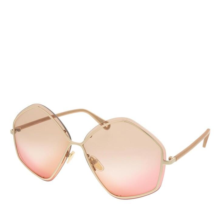 sunglasses, Chloé, CH0065S-002 65 Sunglass Woman Metal Gold-Nude-Brown