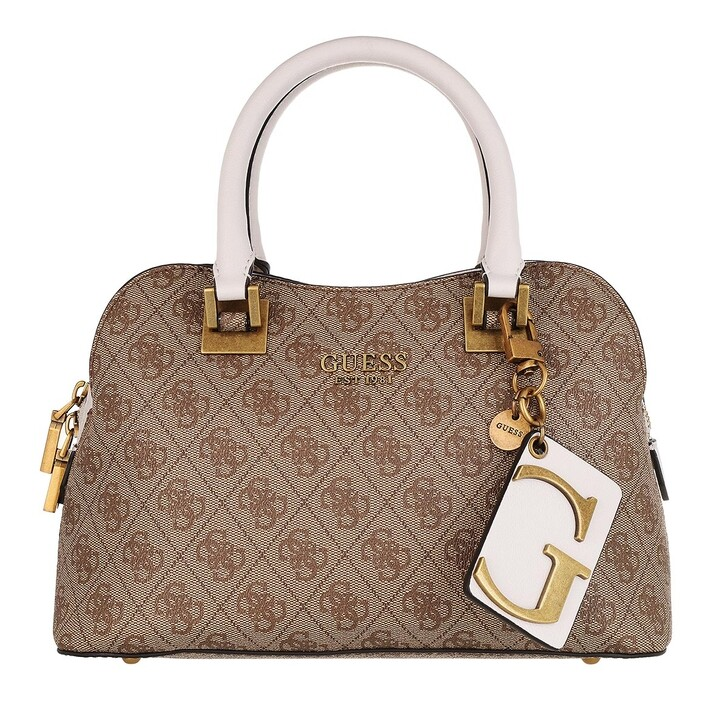 Handtasche, Guess, Mika Small Girlfriend Satchel Brown