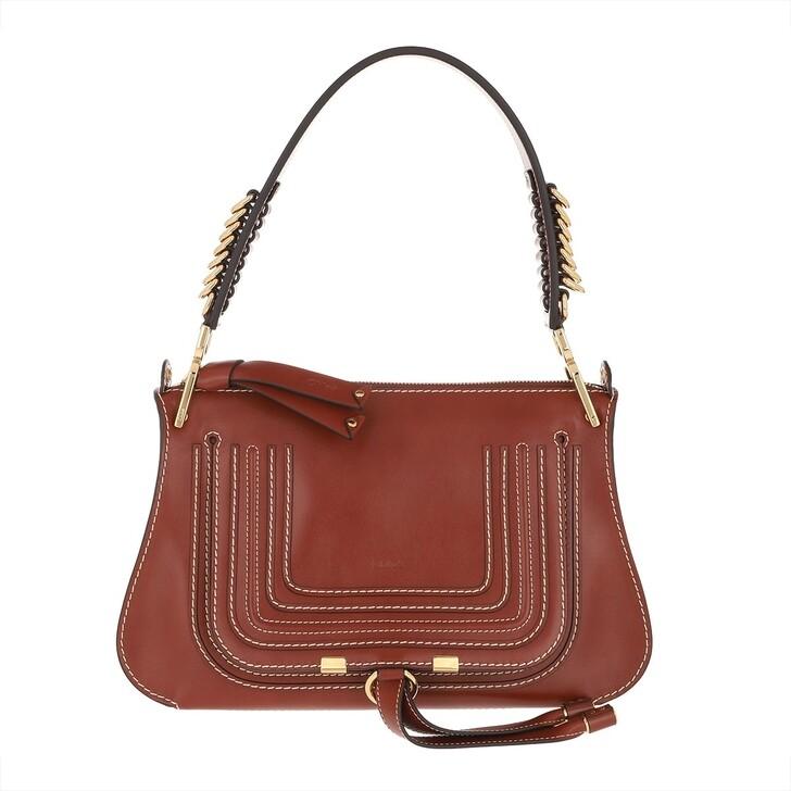 Handtasche, Chloé, Marcie Medium Bag Leather Sepia Brown