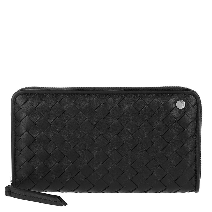 Geldbörse, Abro, Wallets Nos Black Nickel