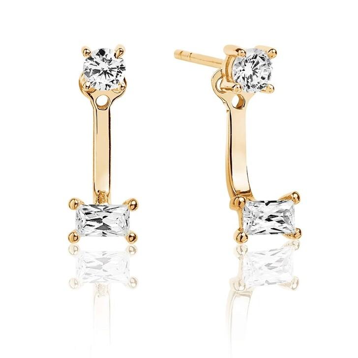 Ohrring, Sif Jakobs Jewellery, Antella Ear Jackets White Zirconia 18K Gold Plated
