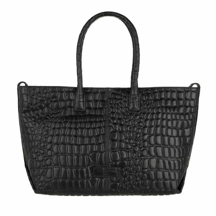 bags, Liebeskind Berlin, Croco Chelsea M 20  Black