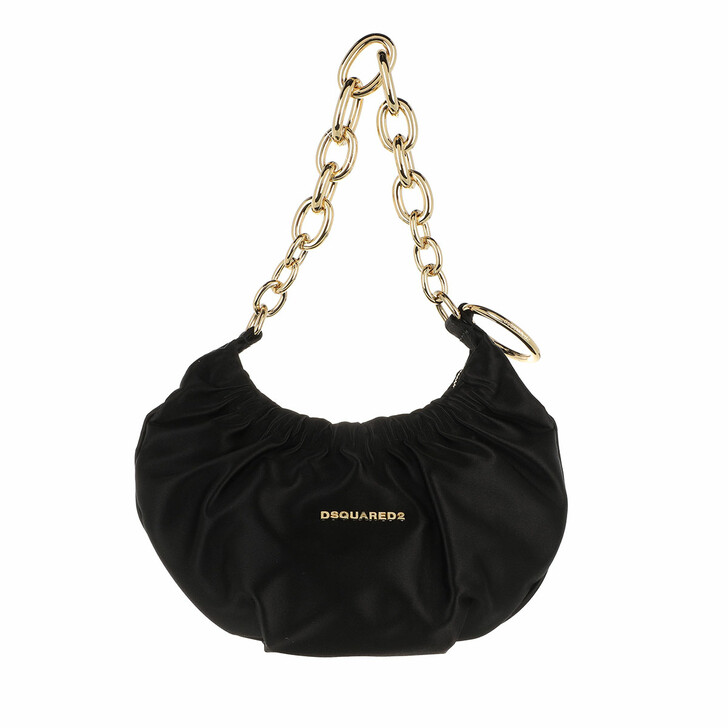 bags, Dsquared2, Mini Chain Hobo Bag Black