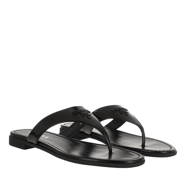 Schuh, Prada, Thong Sandals Black
