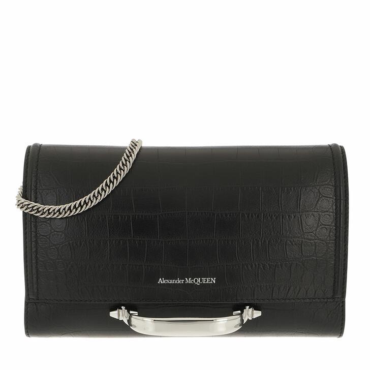 bags, Alexander McQueen, The Story Crossbody Bag Calfskin Black