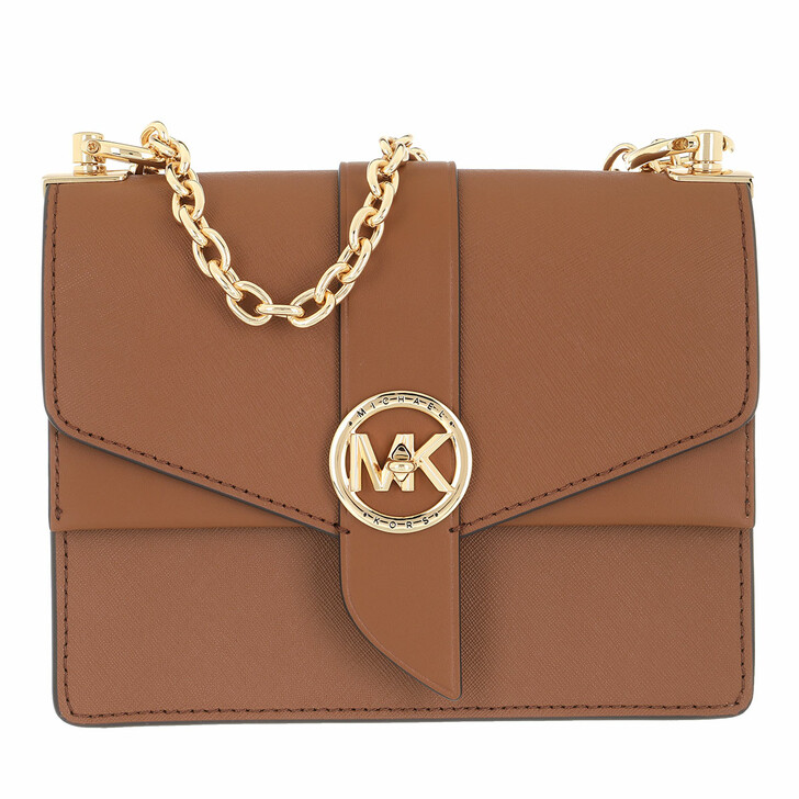 Handtasche, MICHAEL Michael Kors, Greenwich Crossbody Handbag Leather Luggage
