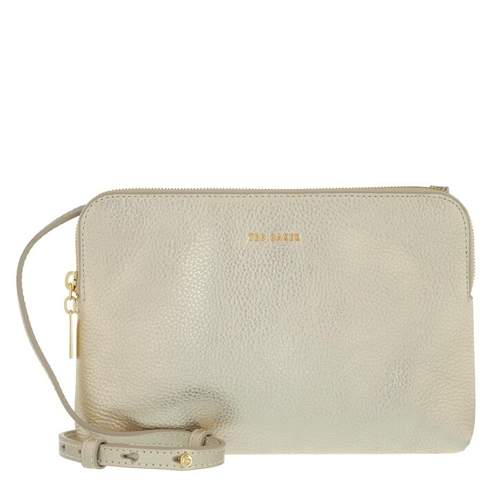 Handtasche, Ted Baker,  Soft Leather Double Pouch Crossbody Gold