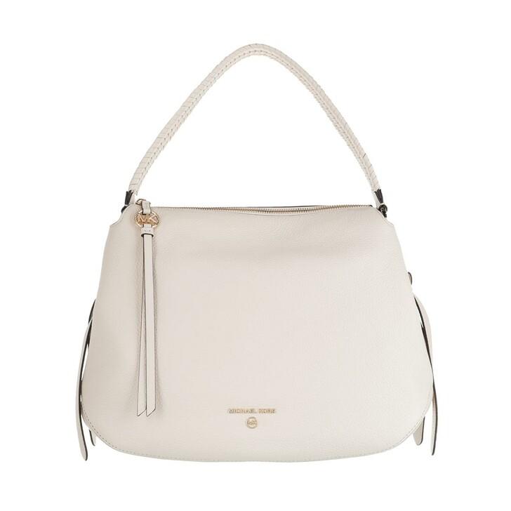 Handtasche, MICHAEL Michael Kors, Grand Large Hobo Shoulder Tote  Leather Light Cream