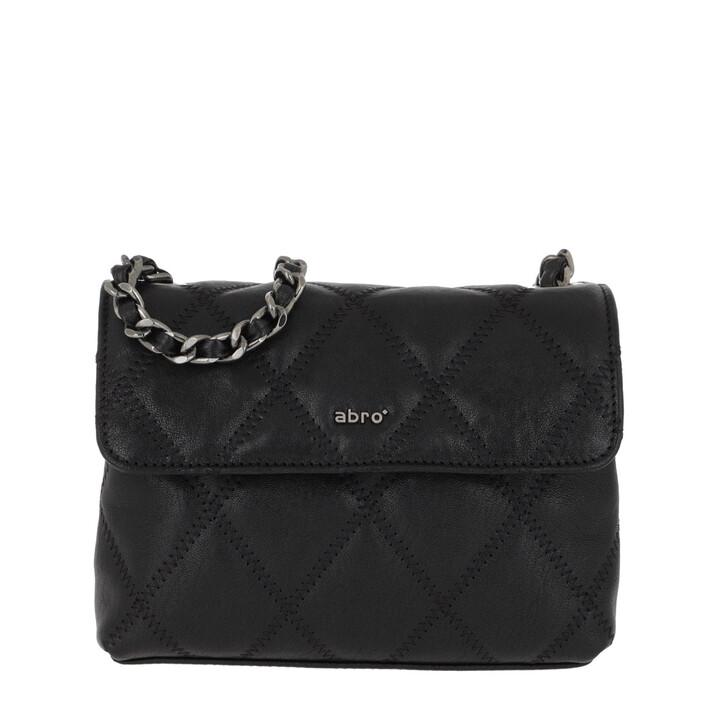 Handtasche, Abro, Romby Crossboy Black/Nickel
