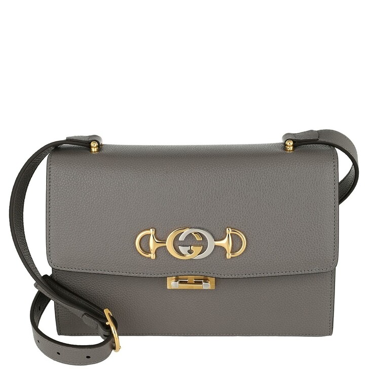 Handtasche, Gucci, Zumi Shoulder Bag Small Leather Dusty Grey
