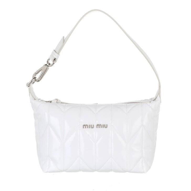 bags, Miu Miu, Miu Spirit Ciré Mini Bag  White