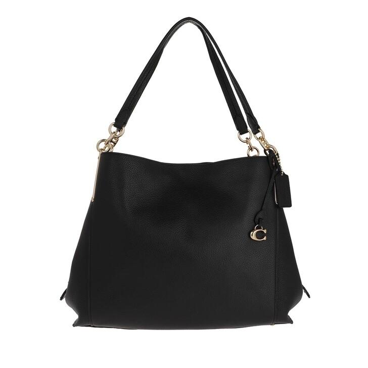 Handtasche, Coach, Polished Pebble Lthr Dalton 31 Shoulder Bag Gd/Black