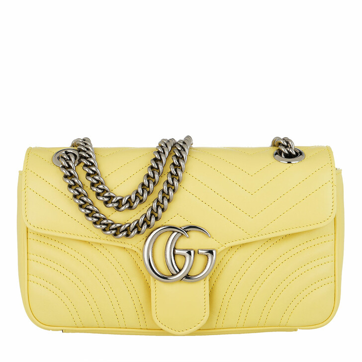 Handtasche, Gucci, GG Marmont Small Shoulder Bag Leather Banana