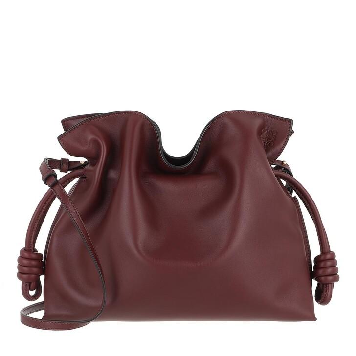 Handtasche, Loewe, Flamenco Clutch Nappa Calfskin Burgundy