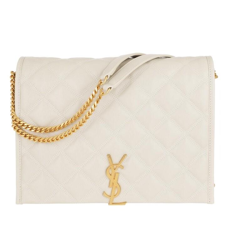 Handtasche, Saint Laurent, Becky Small Chain Bag Quilted Lambskin Crema Soft