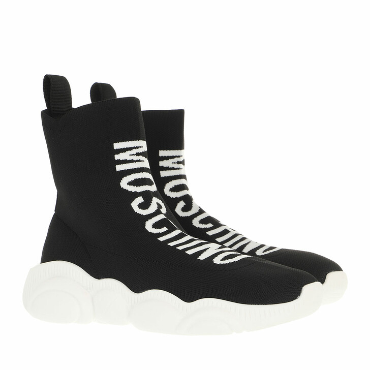 shoes, Moschino, Sneakerd Orso30 Calza  Nero
