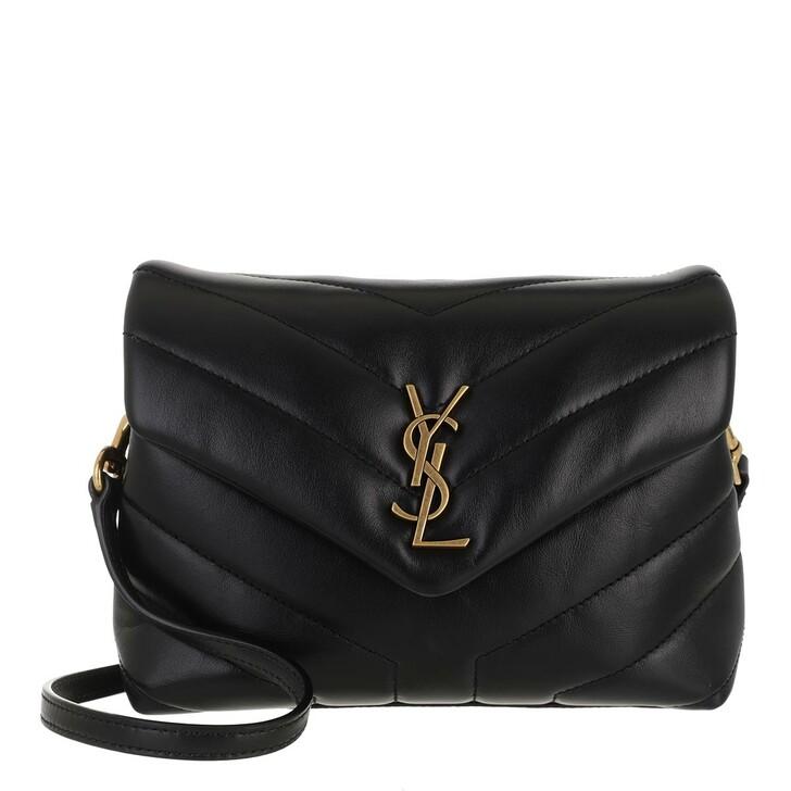 bags, Saint Laurent, Lou Lou Monogramme Shoulder Bag Black