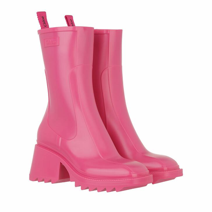shoes, Chloé, Betty Rain Boots Hot Pink