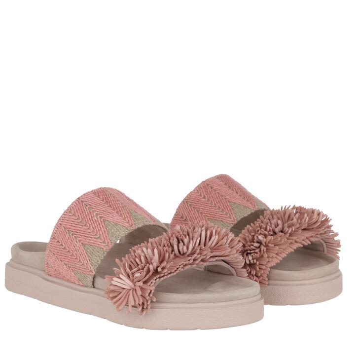 Schuh, INUIKII, Raffia Sandals Rose