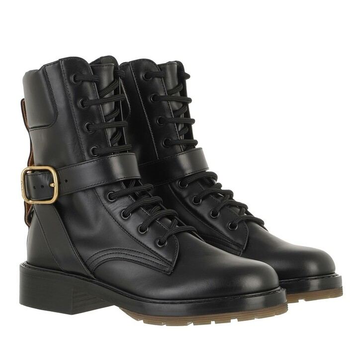 Schuh, Chloé, Ankle Boots Leather Black