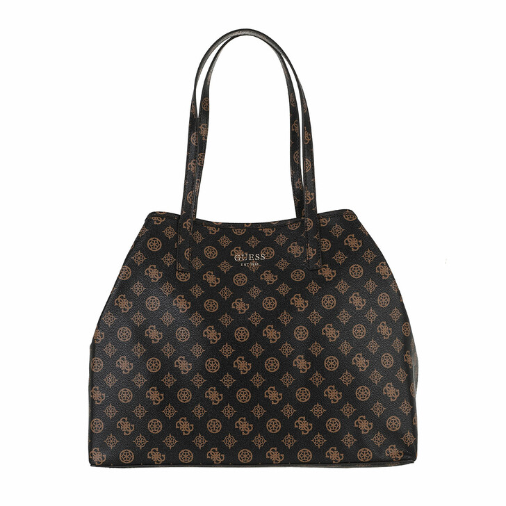 bags, Guess, Vikky Large Tote Brown