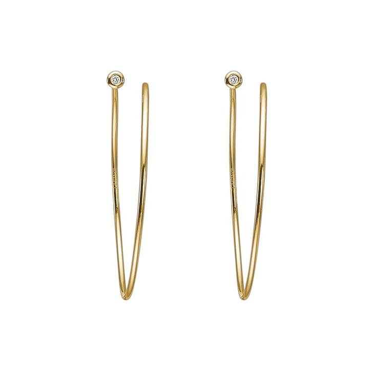 Ohrring, Charlotte Lebeck, Sia Diamond Twirl Earring Yellow Gold