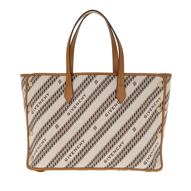 Handtasche, Givenchy, Bond Shopper Medium Jacquard Beige