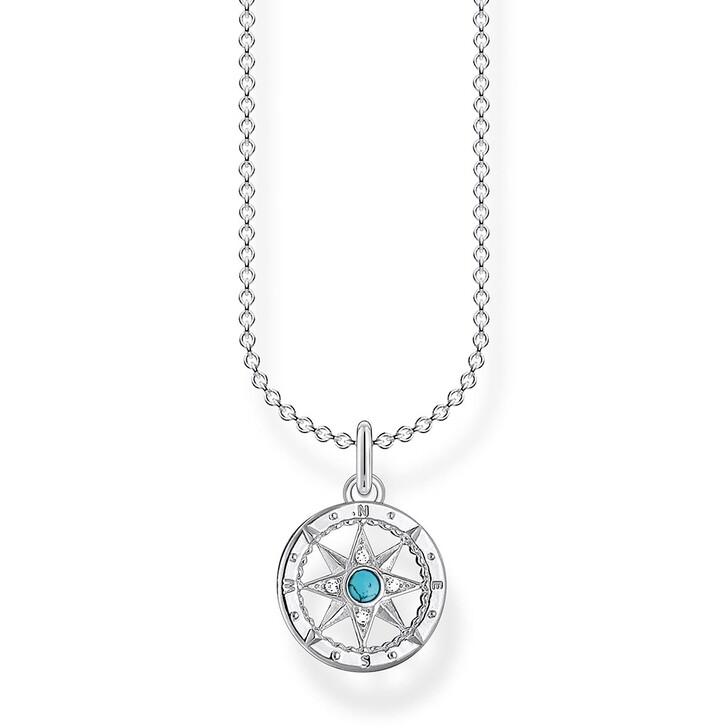 Kette, Thomas Sabo, Necklace Compass Blue