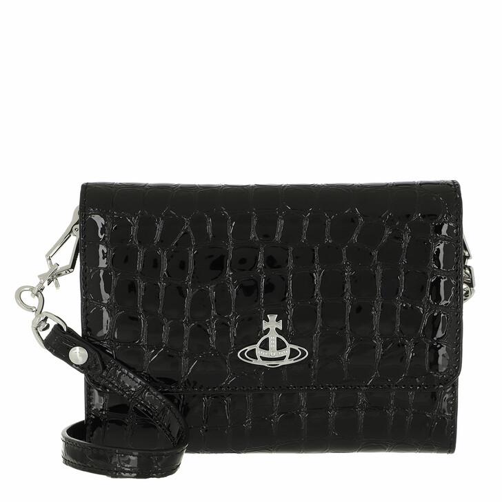 wallets, Vivienne Westwood, Archive Orb Crossbody Wallet Black/Silver