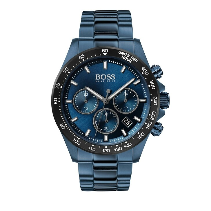 Uhr, Boss, Chronograph Men Hero 1513758 Blue