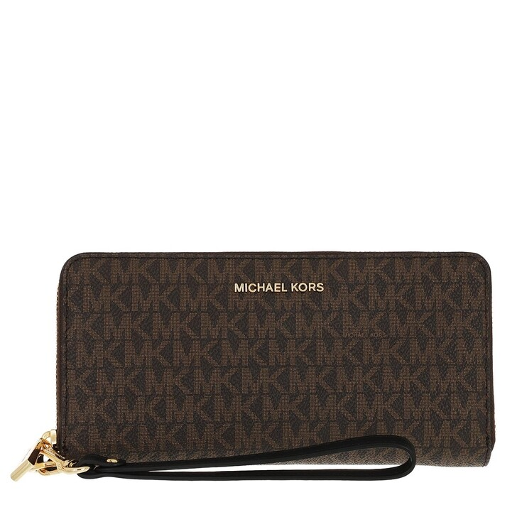 wallets, MICHAEL Michael Kors, Travel Continental Brown/Black