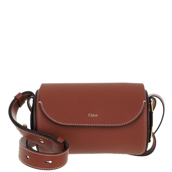 bags, Chloé, Darryl Mini Bag Leather Sepia Brown
