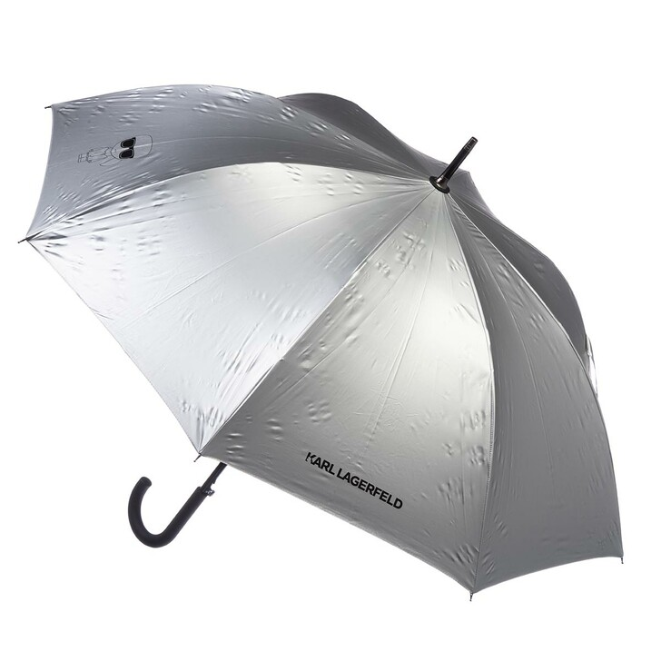 Notizbuch, Karl Lagerfeld, K/Ikonik Metallic Umbrella Silver
