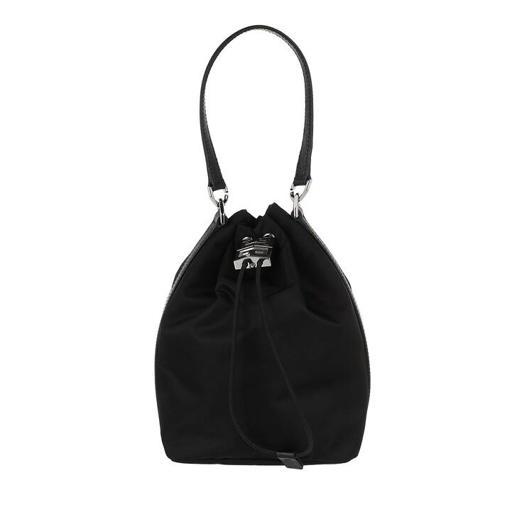 bags, Givenchy, 4G Light Bucket Bag Nylon Black