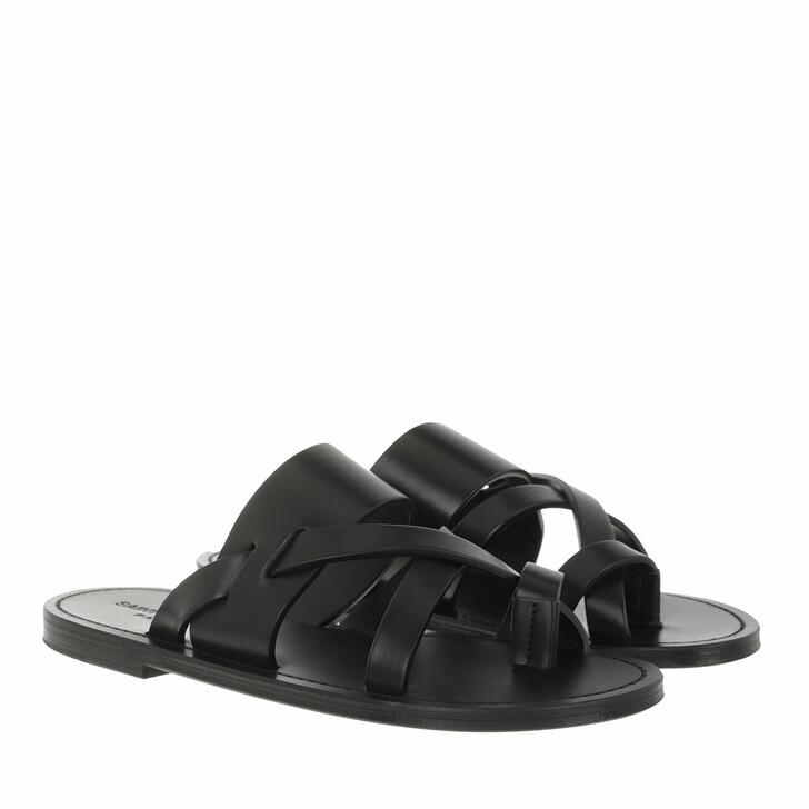 shoes, Saint Laurent, Tribute Sandals Black
