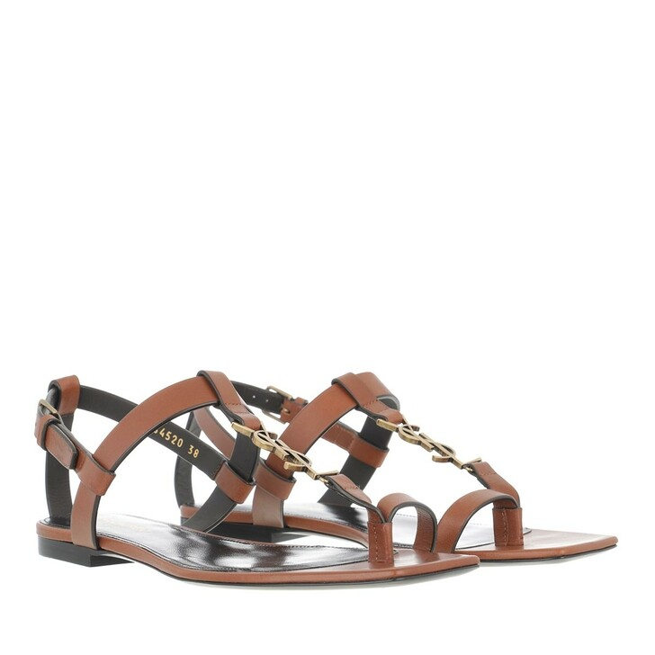 Schuh, Saint Laurent, Cassandra Sandals Leather Caramel