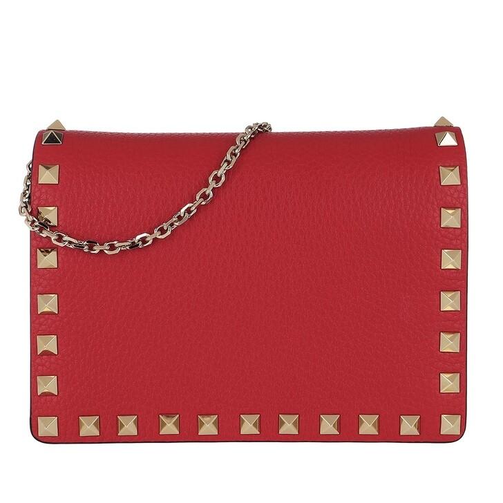 bags, Valentino Garavani, Rockstud Crossbody Bag Red
