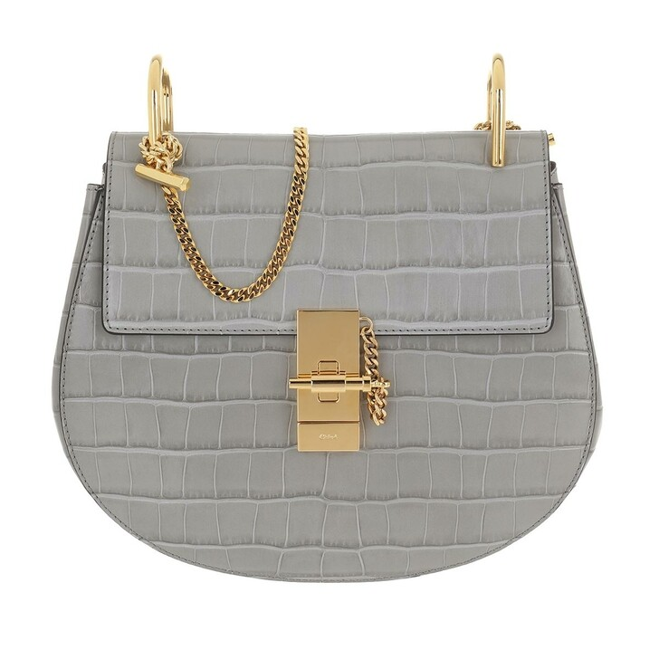 Handtasche, Chloé, Drew Shoulder Bag Leather Stormy Grey