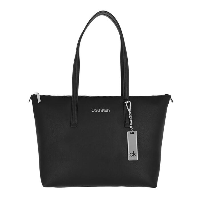 Handtasche, Calvin Klein, Must Shopper Medium Black