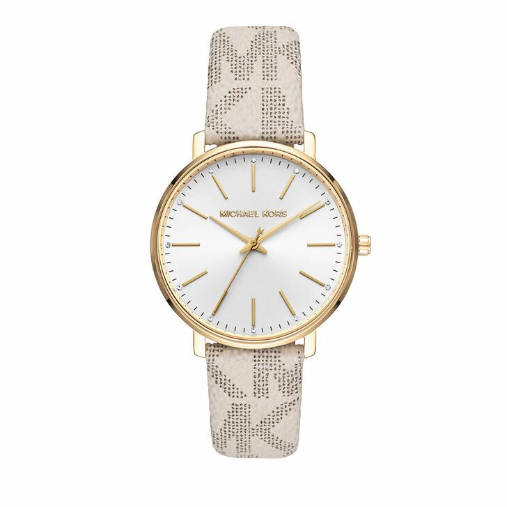 watches, Michael Kors, Women's Pyper Three-Hand PVC Strap Watch White