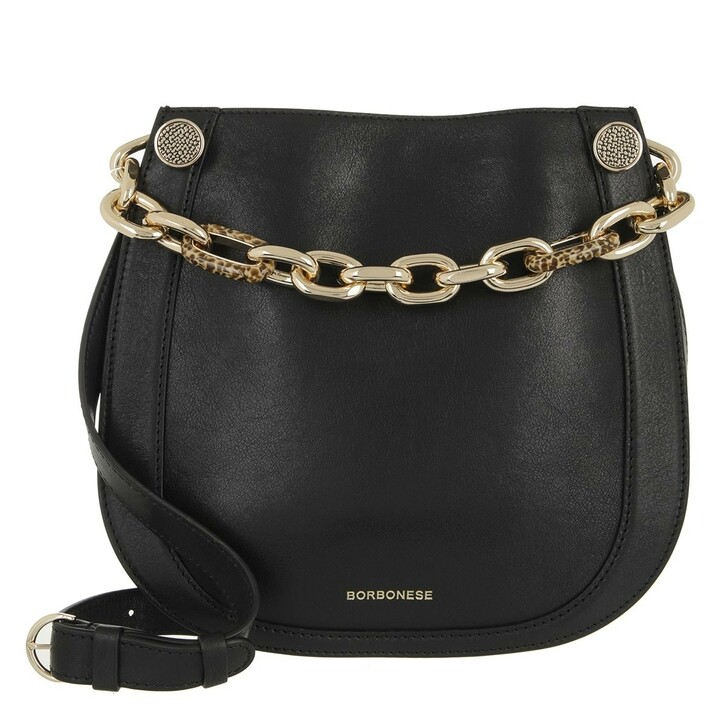 bags, Borbonese, Small Shoulder Bag Black