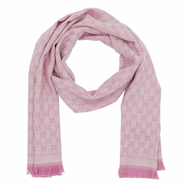 Schal, Gucci, New Sten Scarf Ivory Pink