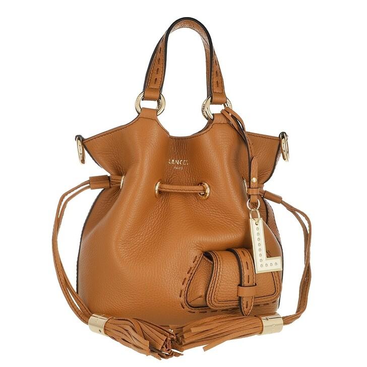 Handtasche, Lancel, Flirt Grained Leather Bucket Bag Small Camel