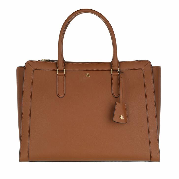 Handtasche, Lauren Ralph Lauren, Brooke 37 Satchel Large Lauren Tan