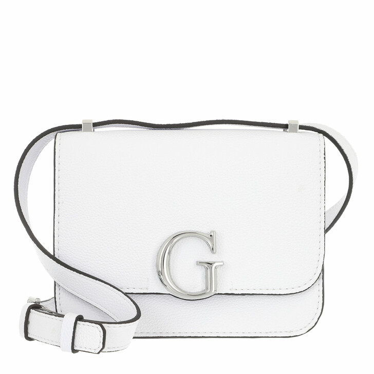 Handtasche, Guess, Corily Convertible Xbody Flap White