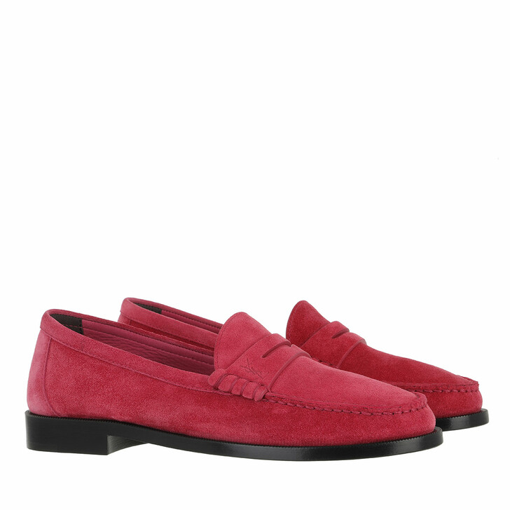 Schuh, Saint Laurent, Le Loafer Monogram Penny Slippers Leather Fuxia