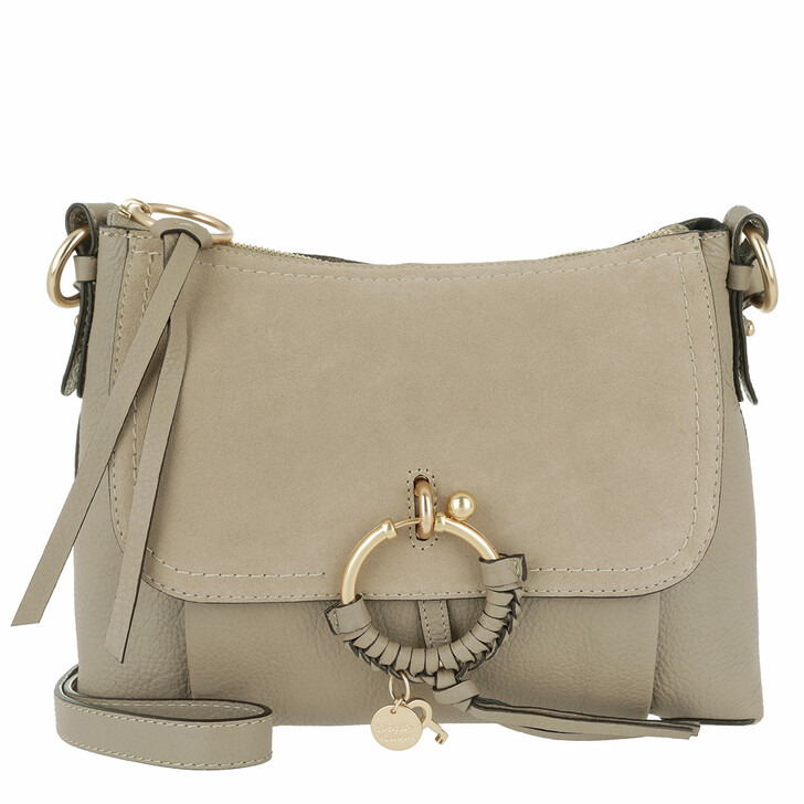 Handtasche, See By Chloé, Joan Grained Shoulder Bag Leather Motty Grey
